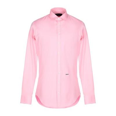 ディースクエアード DSQUARED2 シャツ ピンク 48 コットン 97% / ポリウレタン 3% シャツ