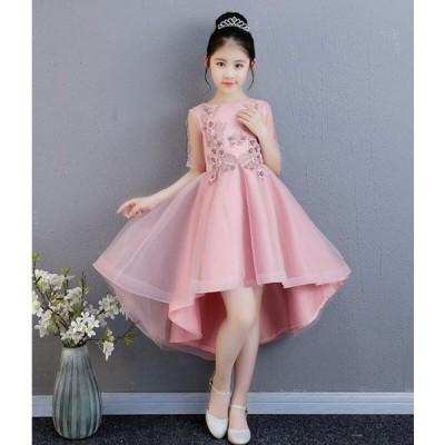 子供ドレス キッズ ドレス フォーマル 女の子 ピアノ発表会 パーティードレス 結婚式 フラワーガール 90-160CM