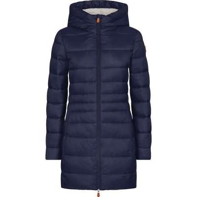 セイブ ザ ダック レディース ジャケット・ブルゾン アウター Save The Duck Women's Hooded Sherpa Long Coat