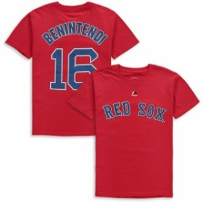 Majestic マジェスティック スポーツ用品  Majestic Andrew Benintendi Boston Red Sox Youth Red Player Name & Number T-Shirt