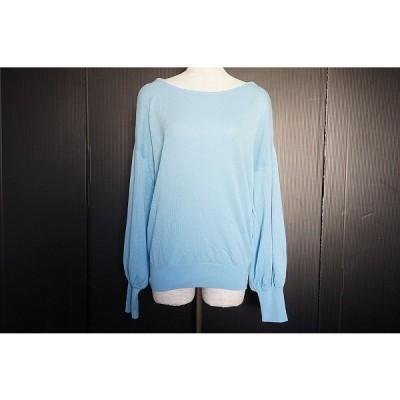#anc リリーリン LILLY LYNQUE ニット・セーター 38 水色 新品同様 タグ付き レディース [563119]