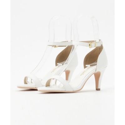 サンダル [花柄/無地]足元を品よく美しく。色違いで揃えたくなるシンプル夏靴!7cm細ヒール☆アンクルストラップ付きサンダル/シューズ/神戸レタス[I