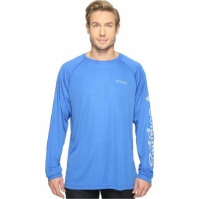 コロンビア Columbia メンズ 長袖Tシャツ トップス Terminal Tackle(TM) L/S Shirt Vivid Blue/Cool Grey Logo