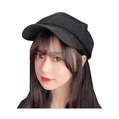 WHITE FANG(ホワイトファング) キャスケット 帽子 春 秋冬 コーデュロイ ハット キャップ おしゃれ (02:ブラック サイズ)