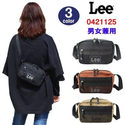 Lee バッグ 0421125 リー メッシュポケット ロゴシルエットデザイン 横型 小ぶり ショルダーバッグ  男女兼用 ag-1742 ブランド