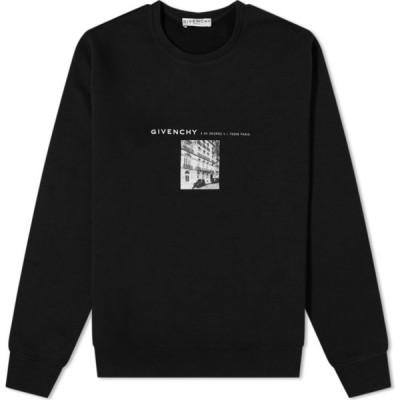 ジバンシー Givenchy メンズ スウェット・トレーナー トップス hq address print crew sweat Black