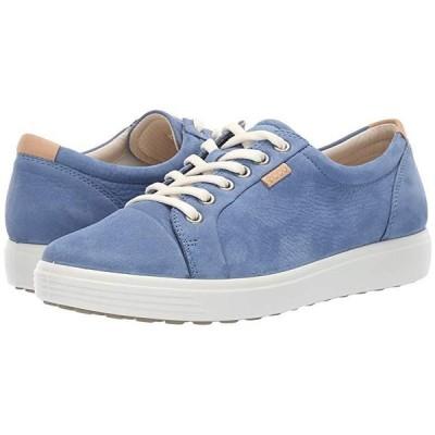 エコー Soft 7 Sneaker レディース スニーカー シューズ 靴 Retro Blue Cow Nubuck