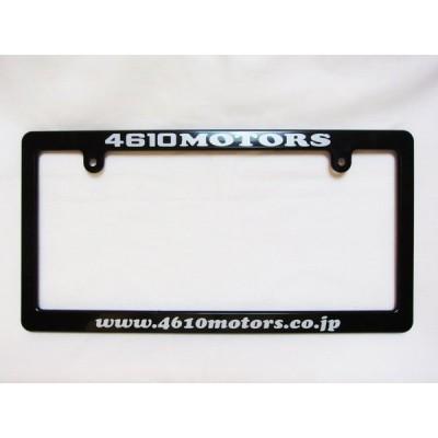 4610MOTORS Black License Frame Slim www.4610motors.co.jp☆ブラック ライセンスフレーム スリム 日本ナンバープレートサイズ細身タイプ