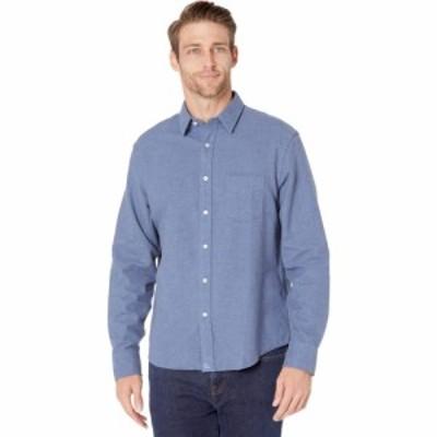 アンタックイット UNTUCKit メンズ シャツ フランネルシャツ トップス Flannel Sherwood Shirt Mid Blue