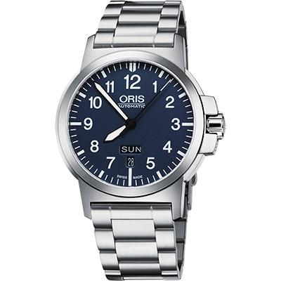 Oris BC3 Advanced 日曆星期機械鏈帶腕錶-藍/42mm