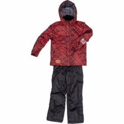 ジョイライド JOB-3334-R140 子供用 スキー スノボー ウェア 上下セット (赤色140) (対象身長125cm~145cm) (JOB3334R140)