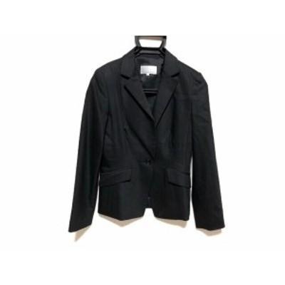 エムプルミエ M-PREMIER ジャケット サイズ36 S レディース 美品 黒×グレー ストライプ【中古】