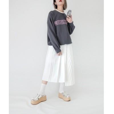 スカート 【cheap!!by vaNite】アシメプリーツスカート