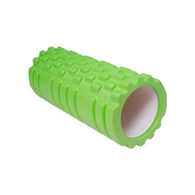 MRG フォームローラー 筋膜リリース グリッド ローラー ショート ストレッチ (グリーン)