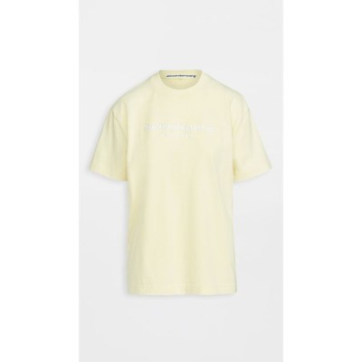 アレキサンダー ワン Alexander Wang レディース Tシャツ トップス Acid Washed Tee with Embroidery Acid Lemongrass