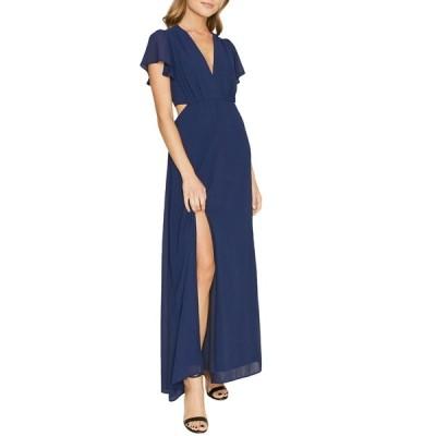 ディーエリー レディース ワンピース トップス Side Cutout Maxi Dress NAVY