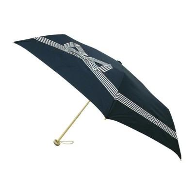 折り畳み傘 3段式 3つ折り 折りたたみ傘 レディース おしゃれ 折傘 3段 テープリボン NV
