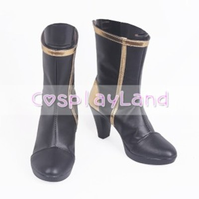 高品質 高級 オーダーメイド ブーツ 靴 リーグ・オブ・レジェンド 風 Game LOL Daughter of the Void Kaisa Black Cosplay Shoes Boots