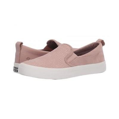 Sperry スペリー レディース 女性用 シューズ 靴 スニーカー 運動靴 Crest Slip-On Woven Emboss - Rose Dust