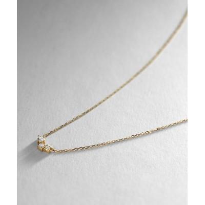 COCOSHNIK(ココシュニック) K18ダイヤモンド ランダムクラスター3石 ネックレス