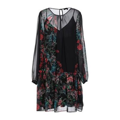 KATIA GIANNINI ミニワンピース&ドレス ブラック 42 100% ポリエステル ミニワンピース&ドレス