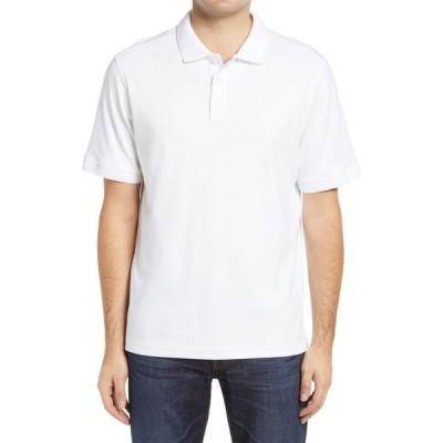 ノードストローム NORDSTROM メンズ ポロシャツ トップス Regular Fit Interlock Polo White