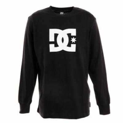 ディーシー・シュー(DC SHOE)Tシャツ メンズ 長袖 19 STAR クルーネック ロゴ 19FW5425J924BLK…