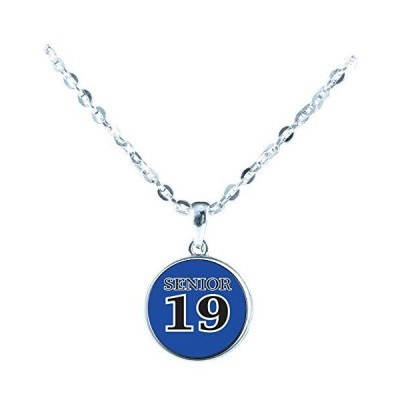 Custom Senior 2019 Choose Color Silver Chain Necklace Jewelry Class of