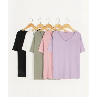 【サードスプリング】 MICHYEORA(ミチョラ)UネックTシャツ- レディース ピンク フリー 3rd Spring