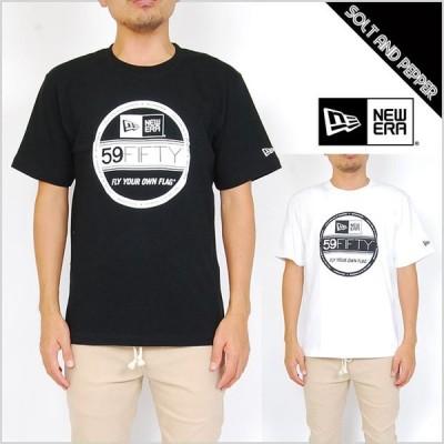 NEWERA ニューエラ アパレル COTTON TEE VISOR STICKER BLACK WHITE コットン Tシャツ ニューエラ バイザーステッカー ロゴ トップス 半袖 ブラック 黒 ホワイト