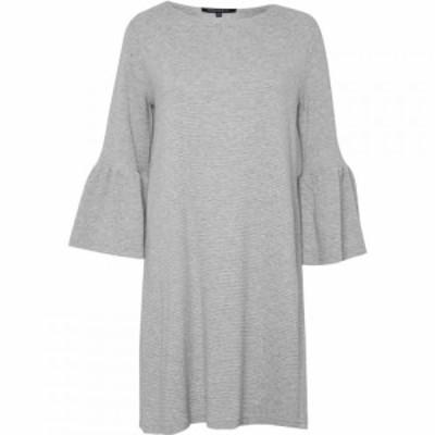 フレンチコネクション French Connection レディース パーティードレス ワンピース・ドレス Paros Sudan Flared Sleeve Dress Grey