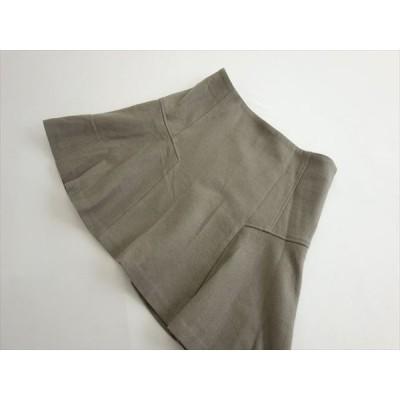 ユナイテッドアローズ UNITED ARROWS ミニ丈 品良くまとまる ウール100% フレアスカート size38 使えるグレー系 スタイルアップ