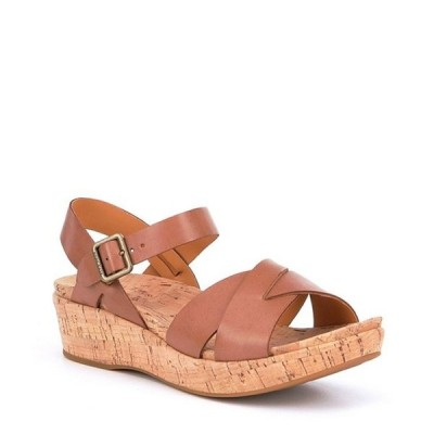 コークイーズ レディース サンダル シューズ Myrna Ankle Strap Banded Leather & Cork Sandals