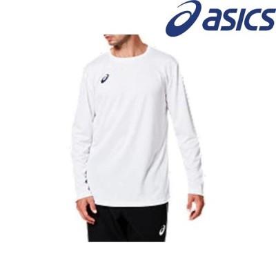 ◆◆●送料無料 メール便発送 <アシックス> ASICS OPロングスリーブトップ 2031A663 (101)ブリリアントホワイト×ピーコート スポーツウェア 半袖Tシャツ メン