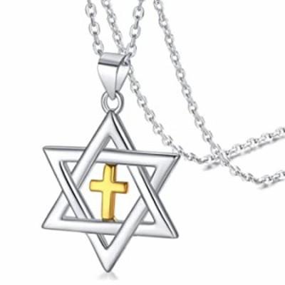 FaithHeart ダビデの星 ユダヤ教ネックレス スターリングシルバーペンダント レディース ソロモンの封印 タリスマン タリズム 六角形ジュ