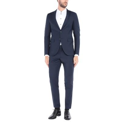GAZZARRINI スーツ ダークブルー 48 ポリエステル 53% / バージンウール 43% / ポリウレタン 4% スーツ
