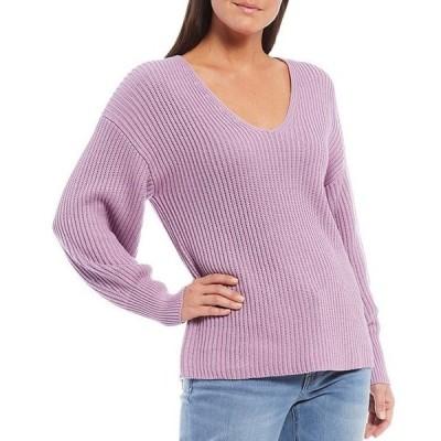 トッミーバハマ レディース パーカー・スウェット アウター Coasta Sienna V-Neck Long Drop Shoulder Sleeve Sweater