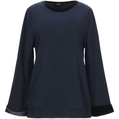 アルファスタジオ ALPHA STUDIO スウェットシャツ ダークブルー 40 コットン 100% / ポリエステル / ポリウレタン スウェット