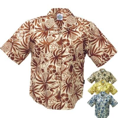 かりゆしウェア 沖縄アロハシャツ レディース エメラルドアイランド アダン柄 リゾートウェディング 結婚式