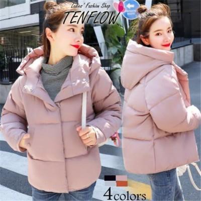 ダウンコート レディース ダウンジャケット 中綿コート ショットジャケット フード付き ダウン アウター 女性用コート 防寒 大きいサイズ