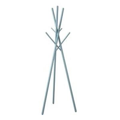 ds-2330973 北欧風 ハンガーラック/ポールハンガー 【ブルー】 幅57.5cm 木製 組立品 〔寝室 ベッドルーム リビング 玄関〕 (ds2330973)