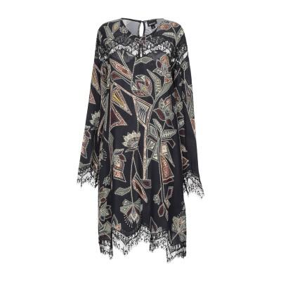 ジャストカヴァリ JUST CAVALLI ミニワンピース&ドレス ブラック 40 レーヨン 100% / ポリエステル ミニワンピース&ドレス