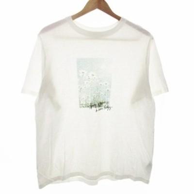 【中古】ロペピクニック ROPE Picnic Tシャツ カットソー 半袖 プリント 38 白 ホワイト /M2 レディース