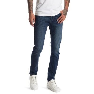 リクエスト メンズ デニムパンツ ボトムス Dark Wash Skinny Denim Jeans DARK BLUE