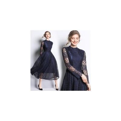 パーティードレス ロングドレス ワンピース 結婚式ドレス お呼ばれ ミモレ丈 花柄刺繍 二次会 ゲストドレス ロングドレス フォーマル 大きいサイズXXL