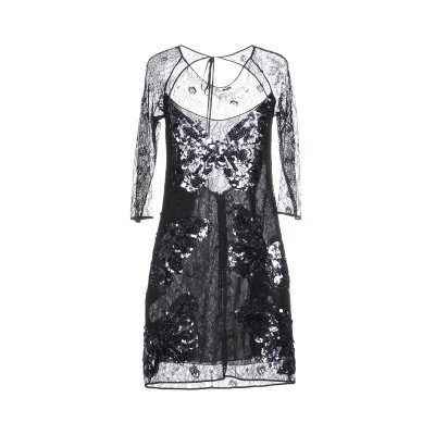 VDP COLLECTION ミニワンピース&ドレス ブラック 46 レーヨン 82% / ナイロン 18% / シルク ミニワンピース&ドレス