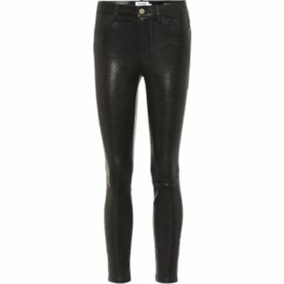 フレーム Frame レディース スキニー・スリム レザーパンツ ボトムス・パンツ le skinny de jeanne leather pants Washed Black