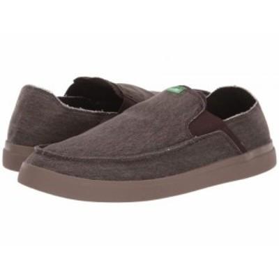 Sanuk サヌーク メンズ 男性用 シューズ 靴 スニーカー 運動靴 Pick Pocket Slip-On Sneaker Dark Brown【送料無料】