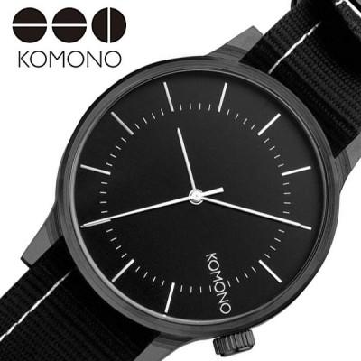 コモノ 腕時計 KOMONO 時計 ウインストン リーガル WINSTON REGAL レディース ブラック  KOM-W2272