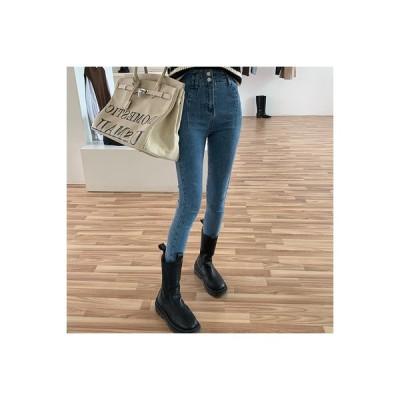 【送料無料】秋 ハイウエスト 着やせ 女性のジーンズ ストレッチ 着やせ 何でも似合 | 346770_A64059-1210733